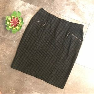 ALFANI cable print pencil skirt 4p zipper pocket